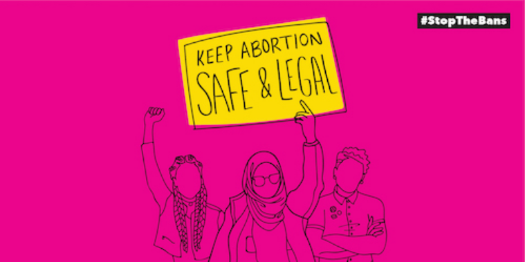 "planned parenthood graphic for ""keep abortion safe and legal"""